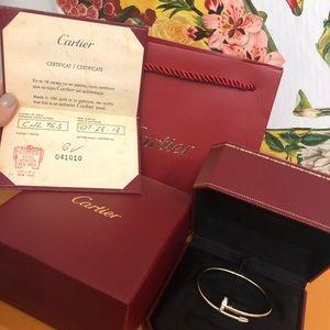 Authentic Cartier Diamond juste un clou size 17